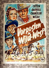 VORPOSTEN IN WILDWEST * A1-FILMPOSTER -TWO FLAGS WEST´52 Chandler, Cotten RAR
