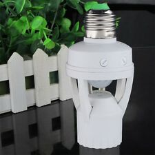 AC 110V 220V Infrared PIR Motion Sensor LED E27 Lamp Bulb Holder Switch SY