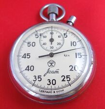 Mechanical Stop watch Agat Soviet USSR pocket vinage stopwatch Working
