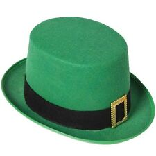 Mens Leprechaun Fancy Dress Top Hat St Patricks Day Irish Topper Hat New