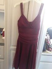 LN euc SPEECHLESS Sexy Club Wear Homecoming Dress size L large BURGUNDY Sparkles