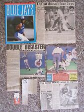 Toronto Blue Jays  1977-1992 Programs, Tickets, Photos, etc. Stewart's No Hitter