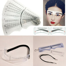 12PCS Eye Brow Shaper Makeup Template Eyebrow Grooming Shaping Stencil Kit DIY