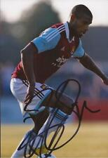 WEST HAM: RICARDO VAZ TE SIGNED 6x4 ACTION PHOTO+COA