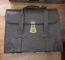 Vintage US Military Pilots Flight Type VIII Class I Brown Leather Briefcase.
