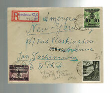 1941 GG Warsaw Poland Censored Cover to New York USA