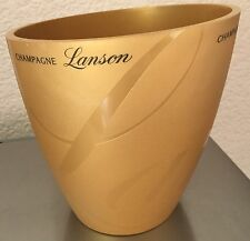LANSON CHAMPAGNE  GOLDEN COLOURED COOLER BUCKET  SELLING AS USED BUT UNUSED