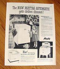 1951 Maytag Automatic Washing Machine Ad