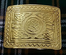 Men's Swirl Celtic Knot Kilt Belt Buckle Gold Plated/Highland Kilt Belt Buckles