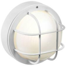 WHITE Exterior Outdoor Porch Light Fixture Wall Flushmount Lantern NON - RUST