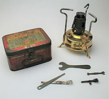 Vintage Primus Stove No. 210 with Original Tin & Accessories 1932 Camping Hiking
