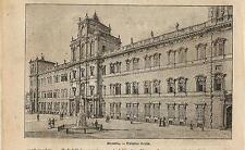 Stampa antica MODENA veduta del Palazzo Reale Emilia 1898 Old antique print