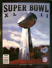 SUPER BOWL XLII Game Program - 2/3/08, Giants vs Patriots, New Mint Condition