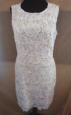 NWT Ann Taylor Loft BEIGE FLORAL LACE CUT OUT SLEEVELESS DRESS SIZE 6
