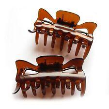 2 große Haarkrebse Haarkrebs Haarklammern Haarklammer braun durchsichtig NEU