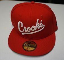 """New Era Crooks and Castles """"Playball"""" Fitted Hat 7 3/8 Red"""