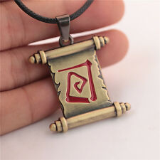 New Dota 2 Town Portal Scroll Metal Choker Necklace Pendant Collection Good Gift