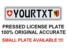 Customized Personalized European Union Car Euro license plate SWISS Switzerland