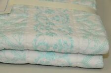 NEW Pottery Barn Kids Embroidered Aqua  Quilt ISABELLE Nursery Crib Bedding