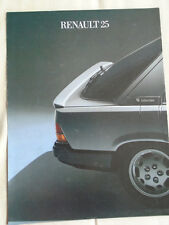 Renault 25 brochure 1985 Italian text