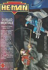 X1344 He-Man - Icarlus e Brakk - Mattel - Pubblicità del 1989 - Vintage advert