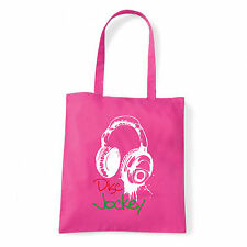 Art T-shirt, Borsa shoulder Disc Jockey Cuffie, Fucsia, Shopper, Mare