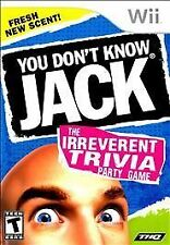 You Don't Know Jack The Irreverent Trivia Party Game COMPLETE MINT Nintendo Wii