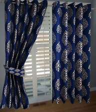 Elegance Blue  Abstract Polyester 1 Window  Curtain