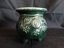 Hull Pottery ~ Agate Green Footed Flower Pot Planter ~ F51 ~ Excellent