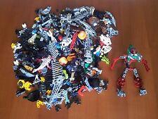 Lotto Lego Bionicle / Exo-Force 400 Pezzi Vari Colori Connettori Barre Speciali