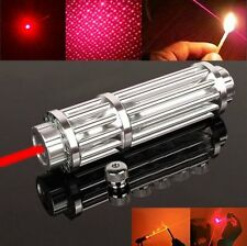 Red Laser Pointer Pen High Power Military Adjustable Focus Beam Battery 650nm 5W