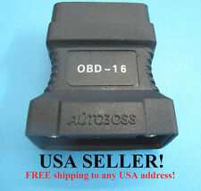 NEW Original OBD2 OBDII Adapter Connector 16-Pin for AUTOBOSS V30 Scanner 3100