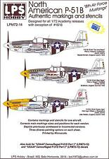LPS Decals 1/72 NORTH AMERICAN P-51D MUSTANG 8th Air Force Mustangs