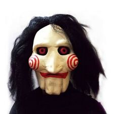 Saw Billy Head Mask Scary Jigsaw Puppet Toy Halloween Cosplay Latex Costume Prop