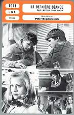 FICHE CINEMA : LA DERNIERE SEANCE - Bridges,Shepher 1971 - The Last Picture Show