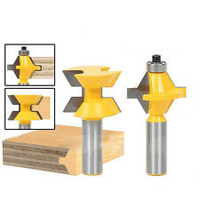 "Matched Tongue & Groove 1/2"" Shank Router Bits Set 120° Edge Banding Cutter Tool"