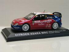 Coche modelo citroen Xsara WRC Rally de Monte Carlo 2004 rojo 1:43