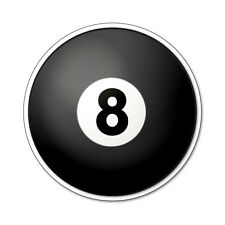 2 x 8 Ball/Pool Ball- Cool vinyl car, van decal sticker