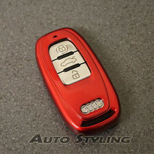 Red Key Cover Audi Smart Remote Case Fob Shell Skin Bag Protector Cap Hull 59fr