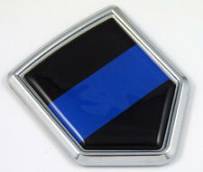 Police Thin Blue Line flag Chrome Emblem Car Decal Sticker Bike crest badge