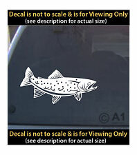 Trout vinyl decal 6 inch fly fishing outdoors 4 car truck home laptop fun more B