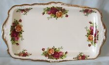 Royal Albert Old Country Roses Sandwich Tray,  England