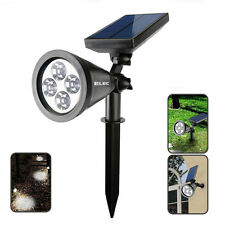 4-LED Solar Power Garden Lamp Spotlight Outdoor Lawn Landscape Waterproof Lights