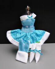 "Bunny rabbit Blue Costumes outfit Fancy for Barbie, Dolls 12"" Dress up clothes"