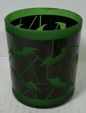 Yankee Candle Halloween Black & Green Batty Bats Votive Holder New !