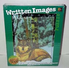 Written Images 1000 piece jigsaw puzzle Timber Wolf writings of Thoreau
