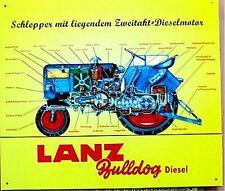Älteres Blechschild  Traktor Schlepper Lanz Bulldog  Diesel gebraucht used