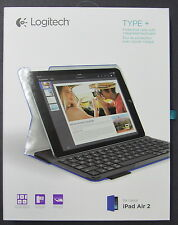 NEW Logitech Type+ Protective Case w/ Integrated Keyboard for iPad Air 2 BLUE ++