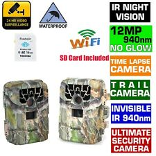 US Trail Camera Hunting Farm Waterproof  Night Vision Time Lapse + 16GB SD Card
