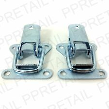 2 x TOGGLE CATCH Chest/DJ Case/Box/Trunk Large Loop Latch Silver Nickel Plated